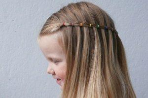 Peinados recogidos con rulos para ninas