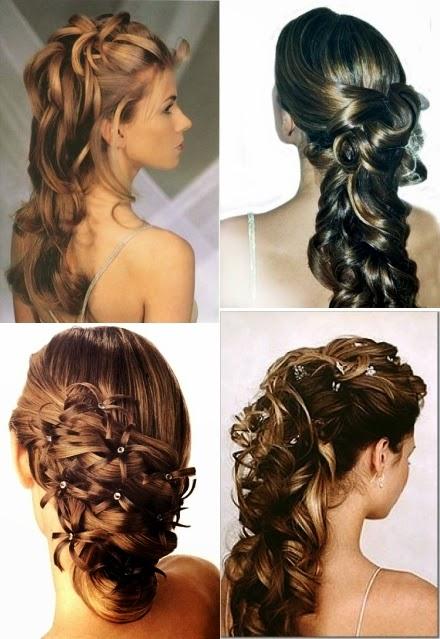 recogidos ondas cabello largo