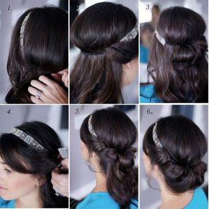 peinados para niña recogido enroscado