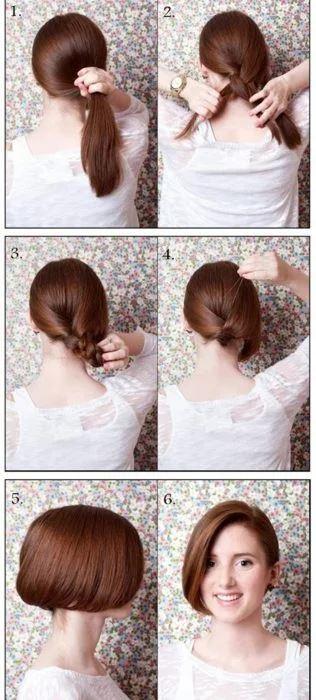 peinado facil recogido pelo largo