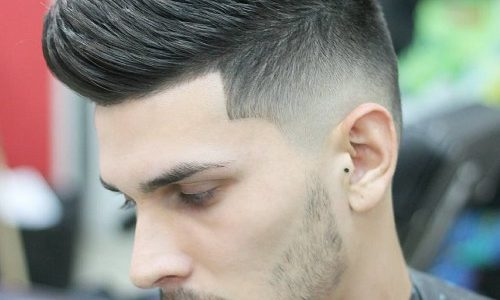 peinado falso mohawk degradado hombre