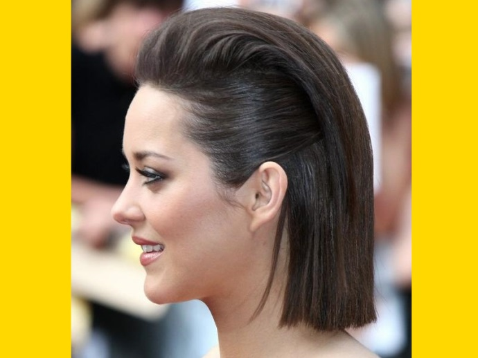 peinado mujer pelo liso corto retro - Peinados Lisos