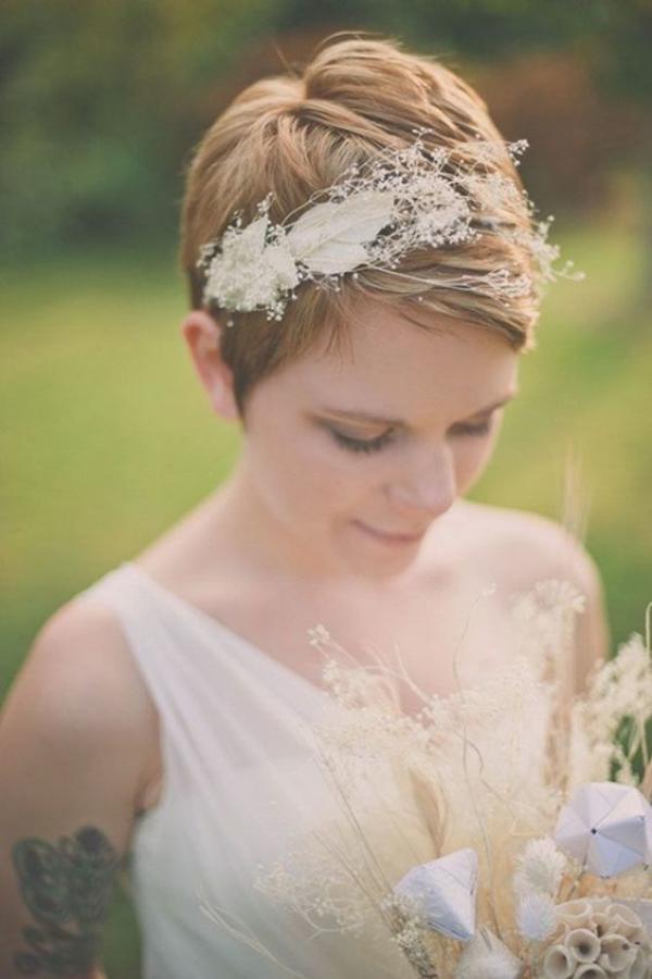 peinado para boda mujer pelo corto