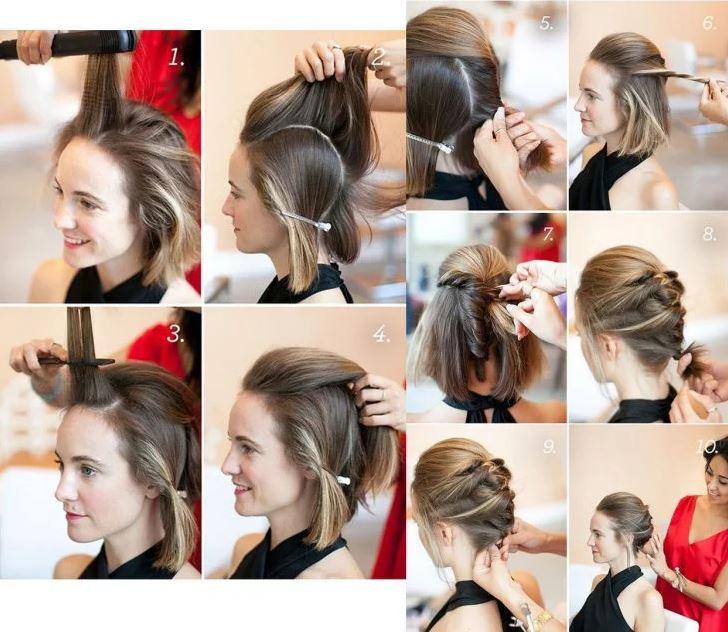 peinado recogido mujer tutorial
