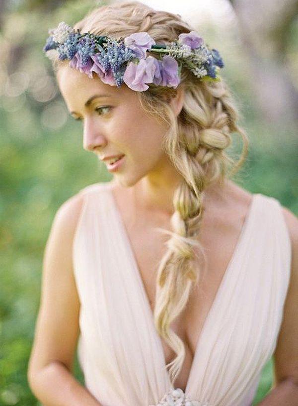 peinado trenza lateral para bodas mujer