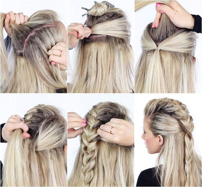 peinado trenza mohicana mujer