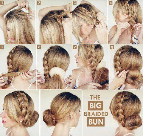 peinado trenzas rapido bonito tutorial con rodete