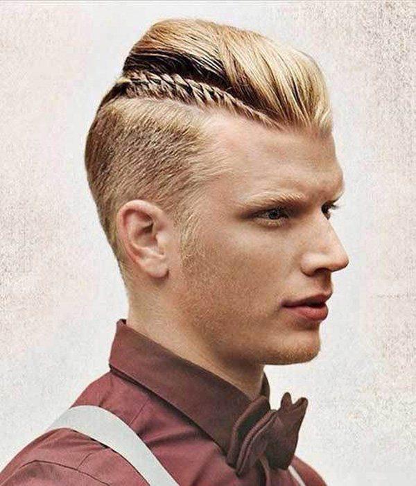 peinados con trenzas para hombres parte superior trenza y tupe
