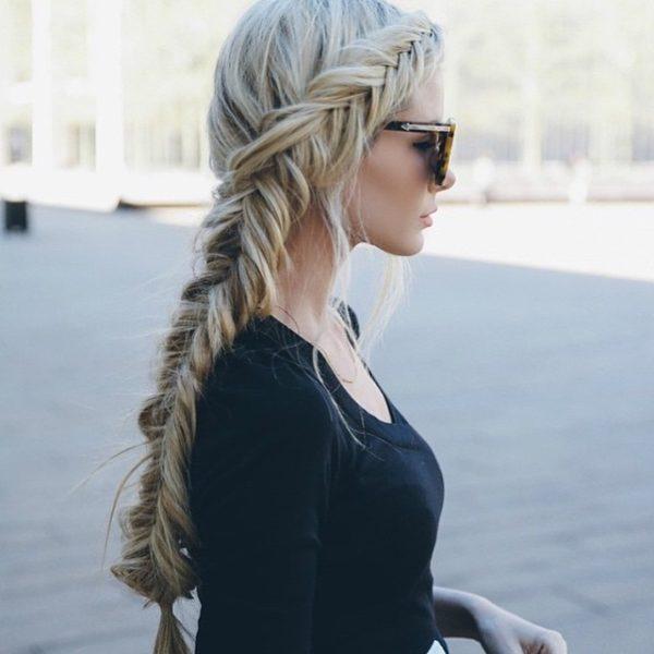 peinados con trenzas pelo largo