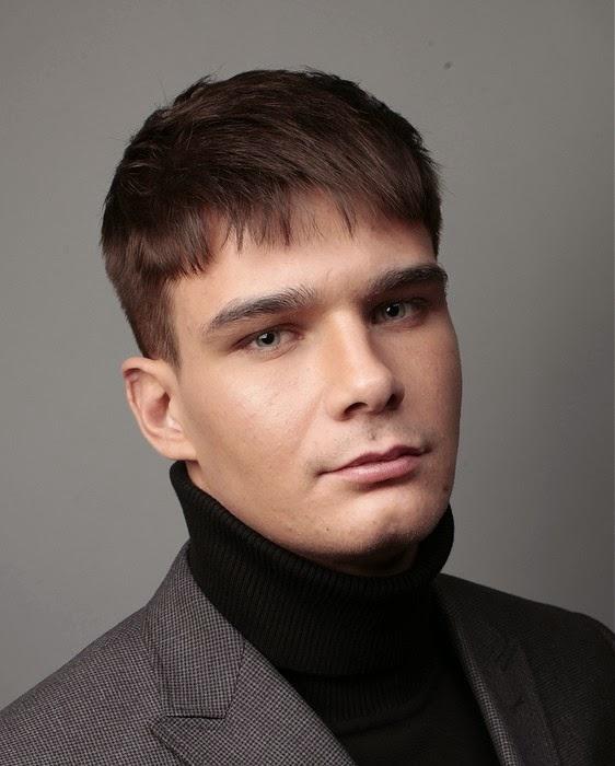 peinados hombre pelo corto con flequillo