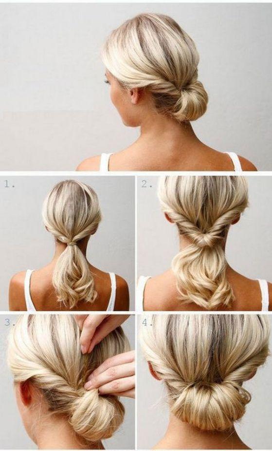 peinados media melena facil - Peinados Fciles