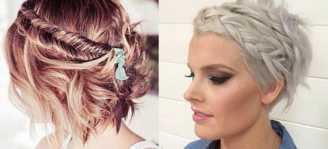 peinados trenzados pelo corto estilo desenfadado mujer - Peinados Actuales