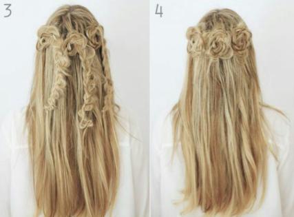 peinados paso a paso semirecogido