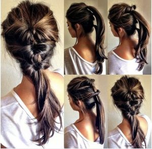 peinados de fiesta sencillo