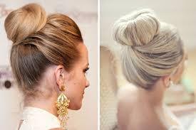 peinados de novia chongo alto