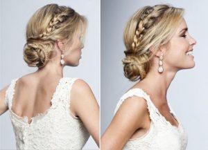 peinados de novia media melena
