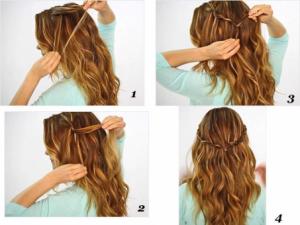 peinados para pelo rizado largo