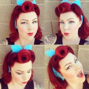 peinados pelo corto pin up