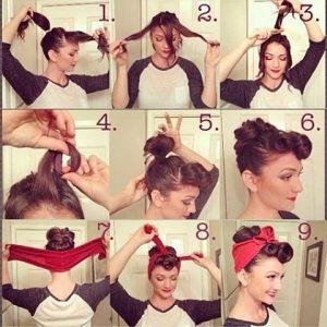 peinados pin up media melena