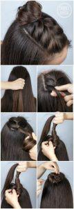 peinados pelo largo con trenzas