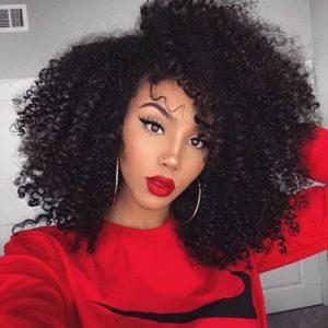 cortes de pelo media melena afro