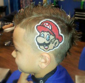 Corte de pelo con un rayo