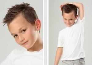 cortes de pelo para niños con cara alargada