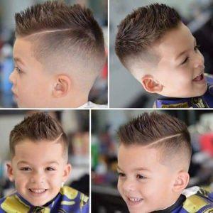 corte de pelo para niños rayas