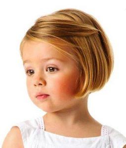 Corte de pelo para cara redonda nina