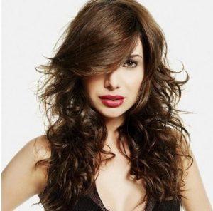 Cortes de cabello largo medio ondulado