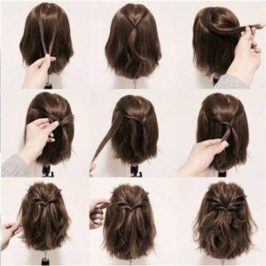 Peinados recogidos faciles para pelo corto